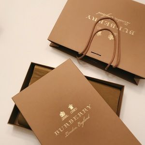 Burberry clothing box & bag